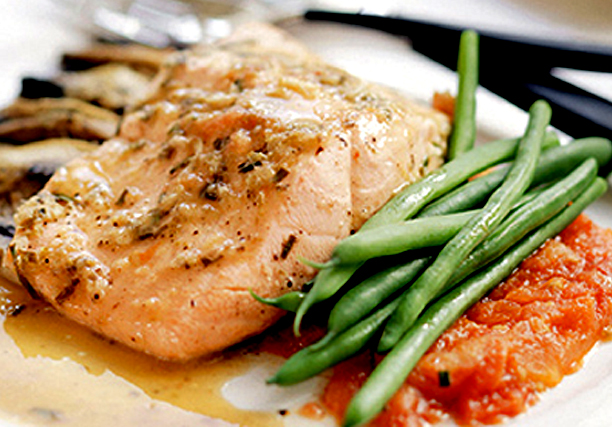 Lean Green Caramelized Salmon